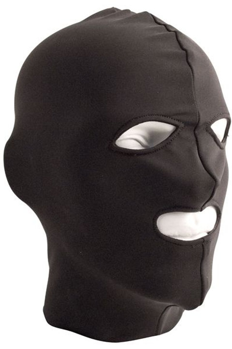 Lycra Hood Eyes and Mouth Open