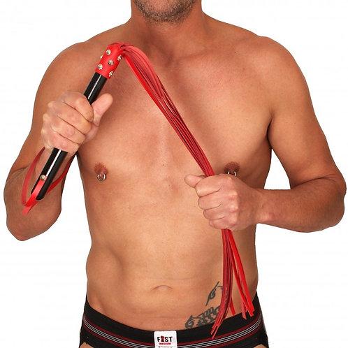 Martinet cuir rouge 78cm