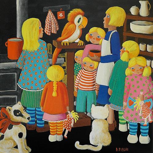 La mamma fa i biscotti per i figli