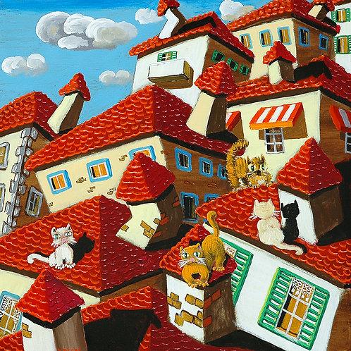 Gatti sui tetti