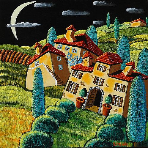 Notte nella cascina in campagna