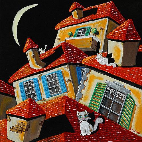 I gatti e la luna