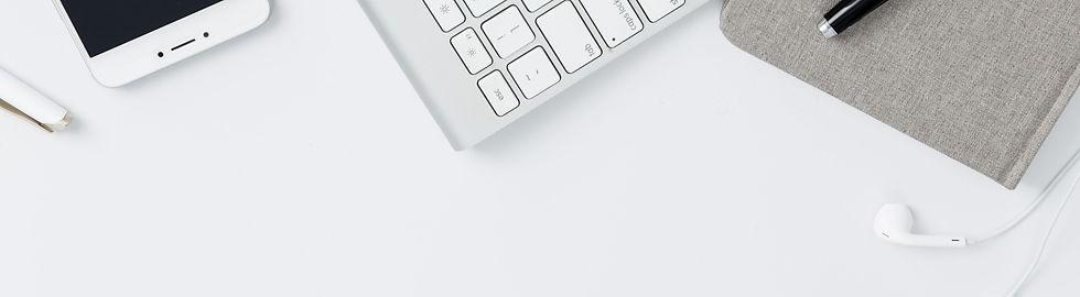Desktop with notepad