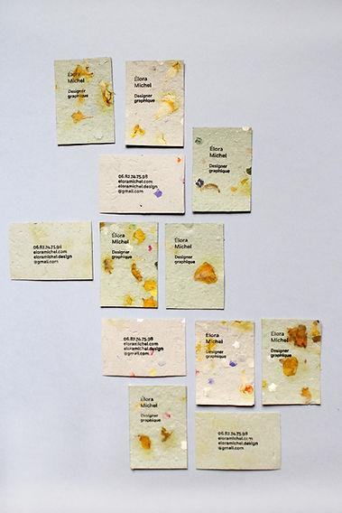 Cartes de visite Elora Michel design