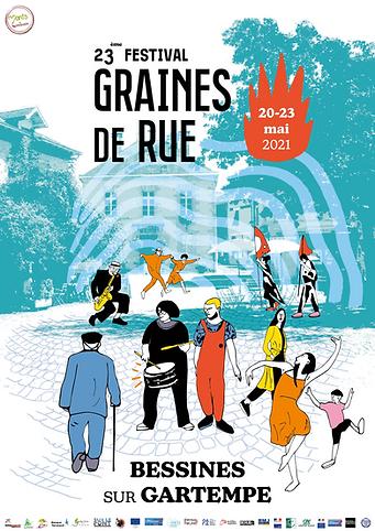 Affiche festival graines de rue