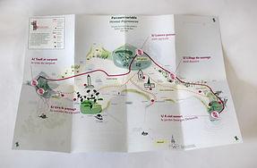 cartographie, plan, ile de batz, parcours