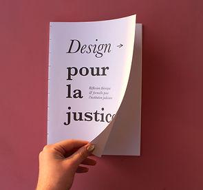 Design pour la justice, recherche en design, édtion