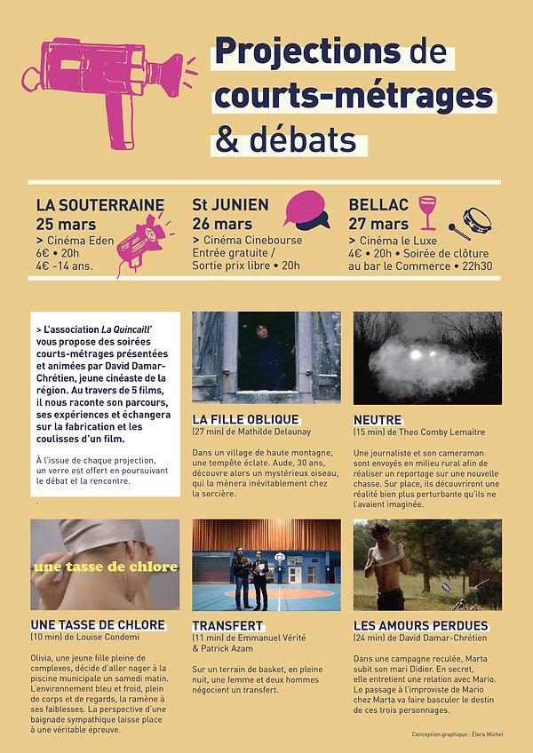 Projection courts métrages et débats