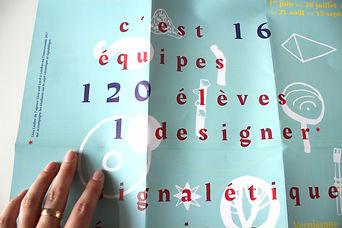 affiche, le prjet 3 écoles, poster, pliage