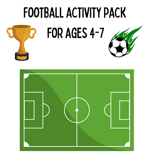 Football activity pack for ages 4-7