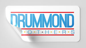 Drummond Brothers Chicago Blue Sticker was created with the purpose to have all artist from rap to drill to know we all support each other in Chicago.