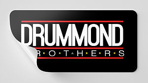 Drummond Brothers Inverted Logo related to Music, Studio, Production, Rap, HipHop and our community. Just a few areas to label with our brand.