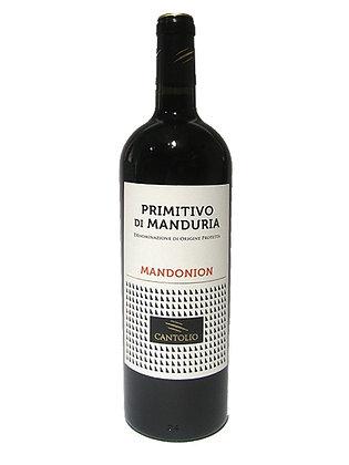 """PRIMITIVO DI MANDURIA D.O.P.  """"MANDONION"""" 15°  - Bottiglia 0,75 cl"""