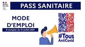 PASS SANITAIRE : MODE D'EMPLOI