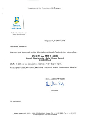 Prochain Conseil d'agglomération