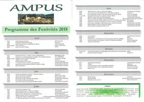Programme des festivités 2018