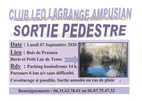 CLUB LÉO LAGRANGE : SORTIE PÉDESTRE