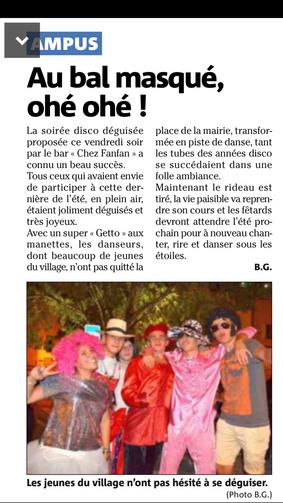 """Beau succès pour la soirée disco """"Chez Fanfan"""""""