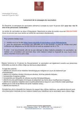CAMPAGNE DE VACCINATION COVID-19