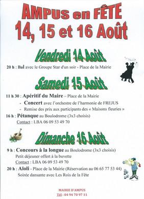 Festivités du 15 août à Ampus