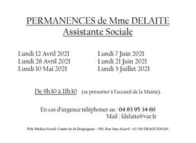 PERMANENCES MME DELAITE - ASSITANTE SOCIALE