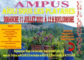 AIOLI SOUS LES PLATANES 11 JUILLET 2021 - CLUB LEO LAGRANGE AMPUS
