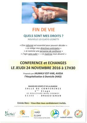 Conférence et échanges : Fin de vie, quels sont mes droits ?