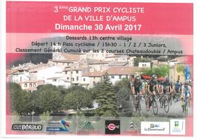 Dimanche 30 avril 2017 : 3ème grand prix cycliste de la ville d'Ampus