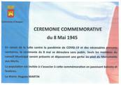 CEREMONIE COMMEMORATIVE DU 8 MAI 1945