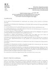 MODIFICATION DE L'ARRETE PREFECTORAL DU 3 AOÛT 2021 DECLARANT L'ETAT DE CRISE SECHERESSE