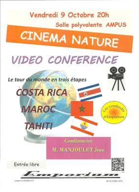 Cinema Nature, vidéo conference vendredi 9 octobre
