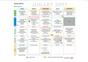 Menus scolaire/CLSH juillet 2017