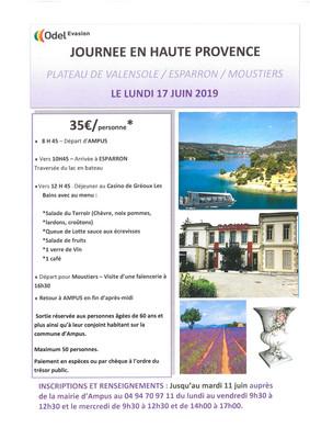 Journée en Haute Provence
