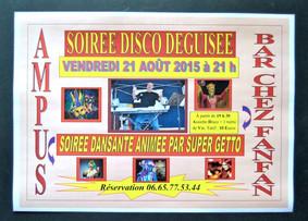 Soirée Disco Déguisée Vendredi 21 août