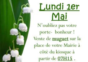 Vente de Muguet au Village!
