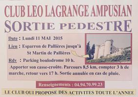 Sortie Pédestre Lundi 11 mai 2015