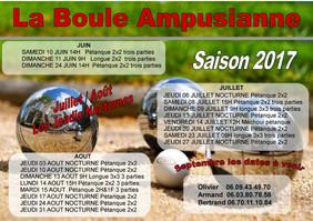 "Planning 2017 ""La Boule Ampusianne"""