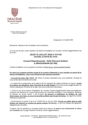 Conseil Départemental - Jeudi 16 Juillet 2020