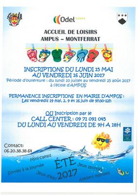 ACCUEIL DE LOISIRS Ampus-Montferrat