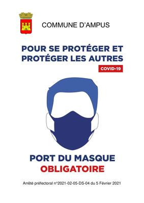 PORT DU MASQUE OBLIGATOIRE SUR LA COMMUNE D'AMPUS