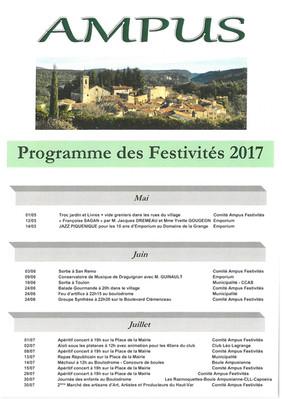 PROGRAMME DES FESTIVITES 2017