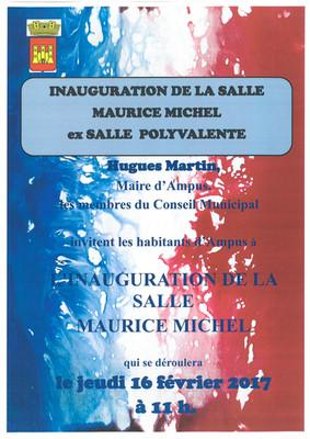 Inauguration de la Salle Maurice Michel (ex salle polyvalente)