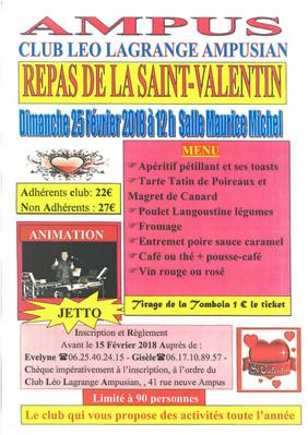 REPAS DE LA SAINT VALENTIN
