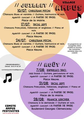 PROGRAMME COMITE AMPUS FESTIVITES