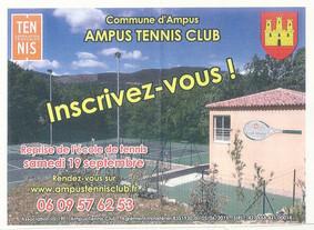 Inscriptions Ampus Tennis Club 2015