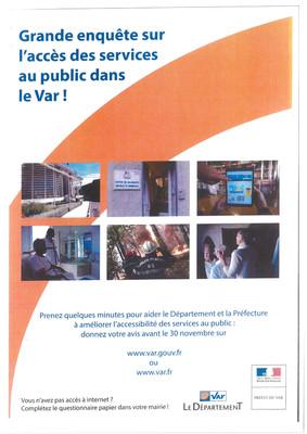 Grande enquête sur l'accès des services au public dans le Var : quels services de proximité près