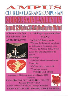 Soirée Saint-Valentin