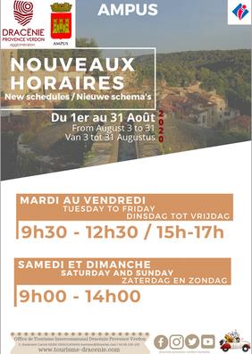 Nouveaux horaires du point d'information tourisme