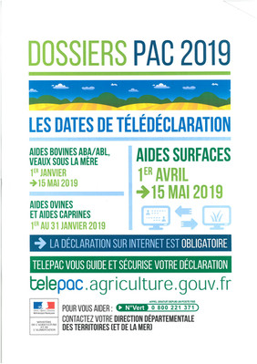 Dossiers PAC 2019