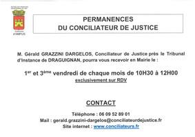 PERMANENCES CONCILIATEUR DE JUSTICE